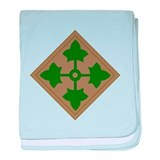 4th Infantry Division baby blanket