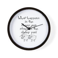 ... the sheep pen Wall Clock