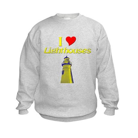 I love Lighthouses Kids Sweatshirt
