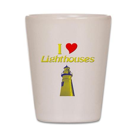 I love Lighthouses Shot Glass