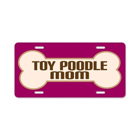 Toy Poodle Mom Dog Lover License Plate Gift