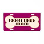 Great Dane Mom Dog Lover License Plate Gift