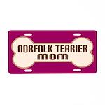 Norfolk Terrier Mom Pet Gift License Plate