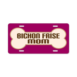 Bichon Frise Mom Dog Lover License Plate Gift