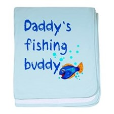Daddy's Fishing Buddy baby blanket