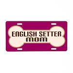 English Setter Mom Dog Lover License Plate Gift