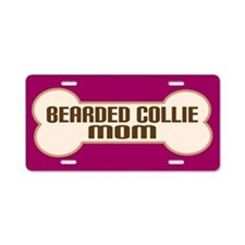 Bearded Collie Mom Dog Lover License Plate