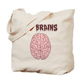 Zombie I Love Brains Tote Bag