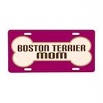 BostonTerrier Mom Dog Lover License Plate Gift