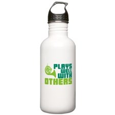 French Horn Plays Well Water Bottle