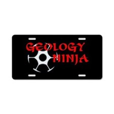 Geology Ninja Aluminum License Plate