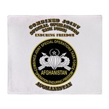 SOF - CJSOTF - Enduring Freedom Throw Blanket