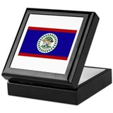 Belize Flag Keepsake Box