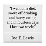Joe E. Lewis Quote Coaster