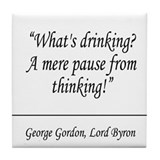 Lord Byron Quote Coaster