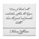 Thomas Jefferson Quote Coaster