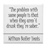 William Butler Yeats Quote Coaster