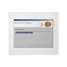 Brain Fart Throw Blanket