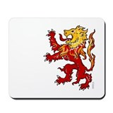 Fiery Lion Rampant Mousepad