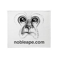 Funny Ape Throw Blanket