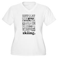 Skiing Gift T-Shirt