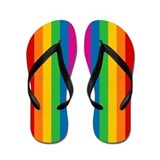 Unique Gay pride Flip Flops