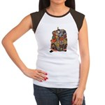 Japanese Samurai Warrior Women's Cap Sleeve T-Shir