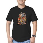 Japanese Samurai Warrior Men's Fitted T-Shirt (dar