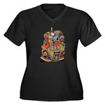 Japanese Samurai Warrior Women's Plus Size V-Neck