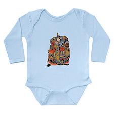 Japanese Samurai Warrior Long Sleeve Infant Bodysu