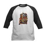 Japanese Samurai Warrior Kids Baseball Jersey