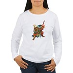 Japanese Samurai Warrior Women's Long Sleeve T-Shi