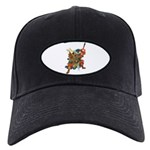 Japanese Samurai Warrior Black Cap