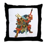 Japanese Samurai Warrior Throw Pillow