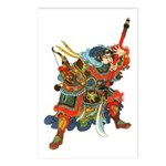 Japanese Samurai Warrior Postcards (Package of 8)