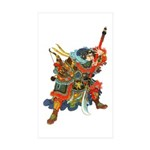 Japanese Samurai Warrior Sticker (Rectangle 50 pk)