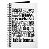 Table Tennis Gift Journal