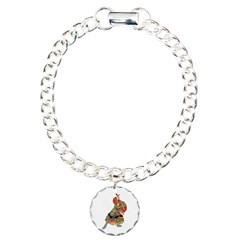 Japanese Samurai Warrior Charm Bracelet, One Charm
