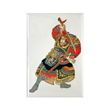 Japanese Samurai Warrior Rectangle Magnet
