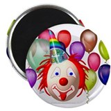 "Clown and Circus Theme Birthday 2.25"" Magnet (10 p"