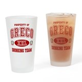 Greco Italian Drinking Team Drinking Glass