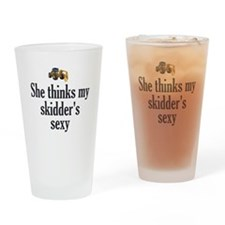 She Thinks My Skidders Sexy Drinking Glass