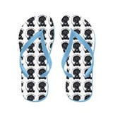 Black Labradoodle IAAM Flip Flops