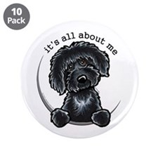 "Black Labradoodle IAAM 3.5"" Button (10 pack)"