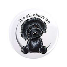"Black Labradoodle IAAM 3.5"" Button"