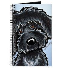 Black Labradoodle Funny Journal