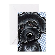 Black Labradoodle Funny Greeting Card