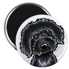 Black Labradoodle Funny Magnet
