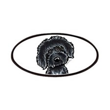 Black Labradoodle Funny Patches