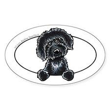 Black Labradoodle Funny Decal
